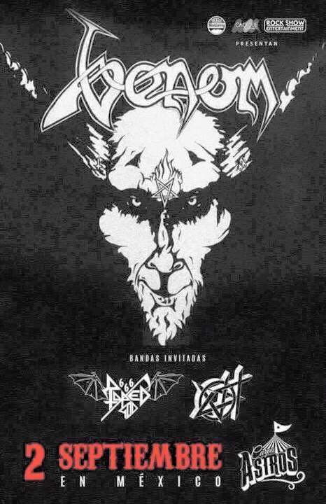 venom black metal tour section news poster 2016