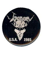 venom black metal badges pins