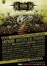 venom black metal poster portugal 2011