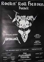 venom black metal new yourk 1983 live