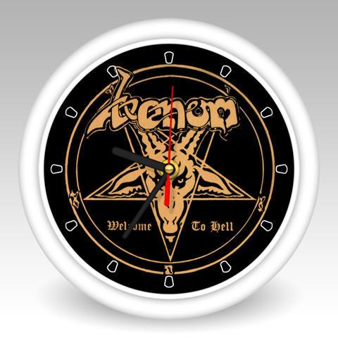 venom welcome to hell wall clock