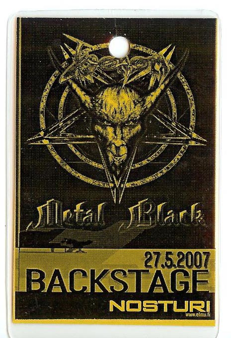 venom black metal tour pass 2007