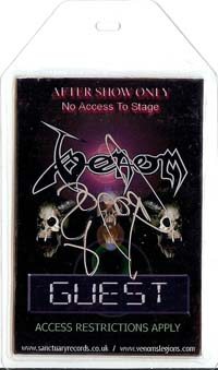 venom metal black tour pass