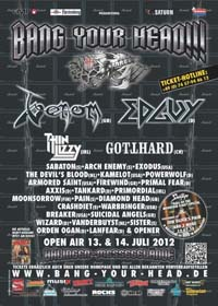 venom bang your head review 2012