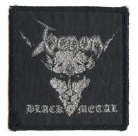 venom black metal patch
