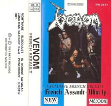 venom black metal collection homepage french assault tape