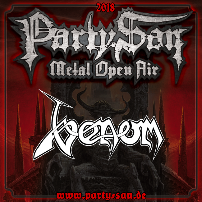 Venom black metal news party san open air 2018