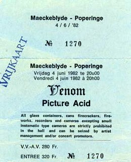 venom black metal poperinge 1982 ticket