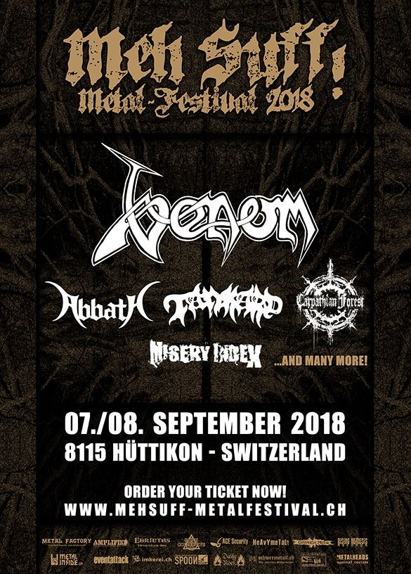Venom Black Metal News meh suff! metal festival 2018
