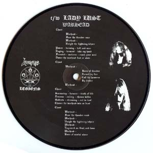 Warhead bootleg picture disc Swedish 1997