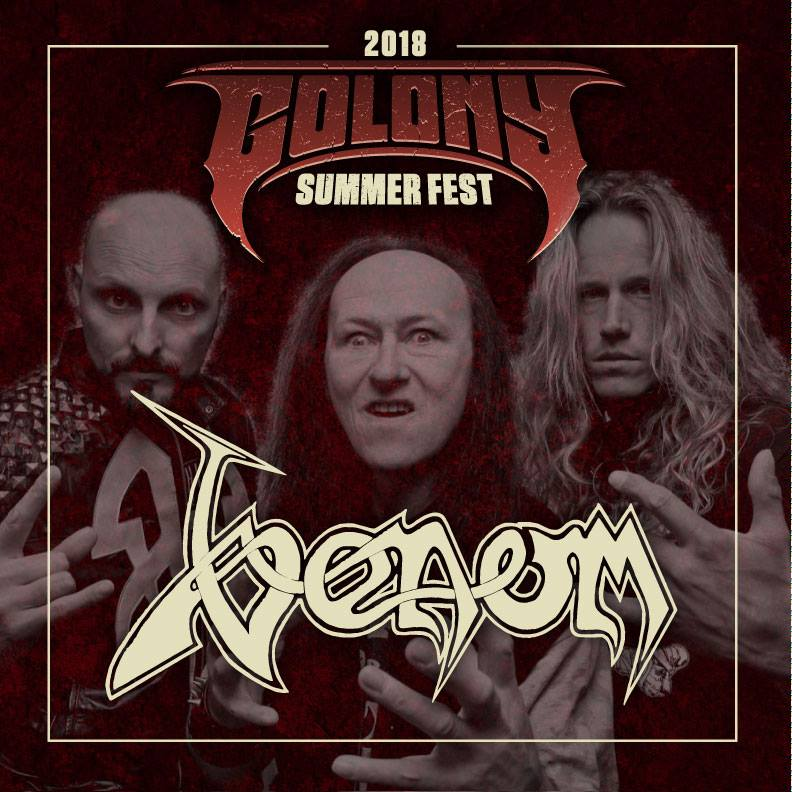 Venom Black Metal News summer festival colony 2018