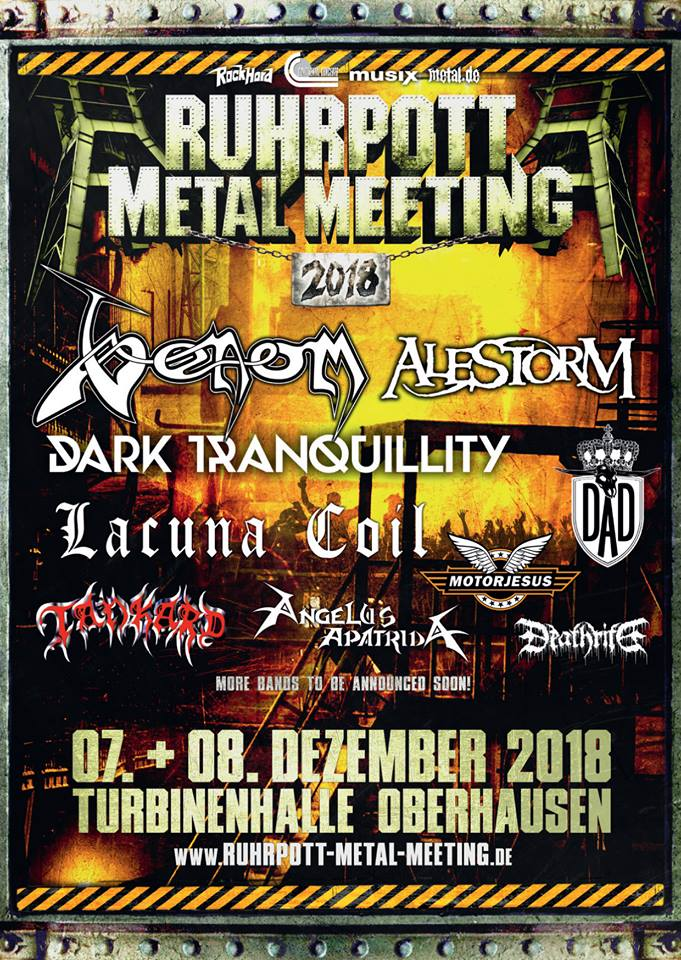 Venom Black Metal ruhrpott metal meeting 2018 poster