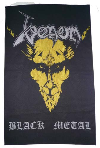 venom black metal flag