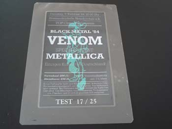 venom black metal metallica promo box set 1984