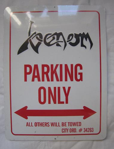 venom black metal collection homepage parking sign