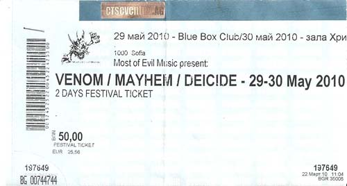 venom ticket stubb