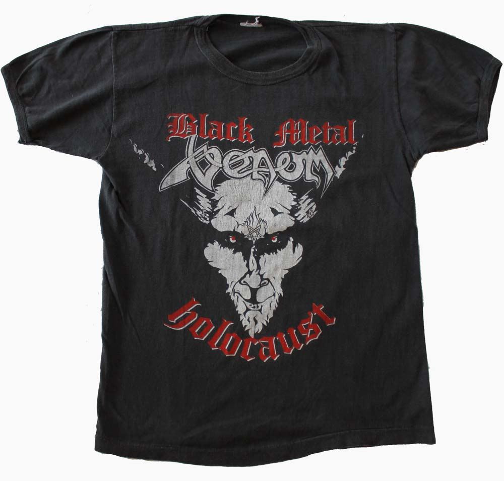 venom black metal tour shirts
