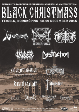 venom black metal autumn winter tour 2015