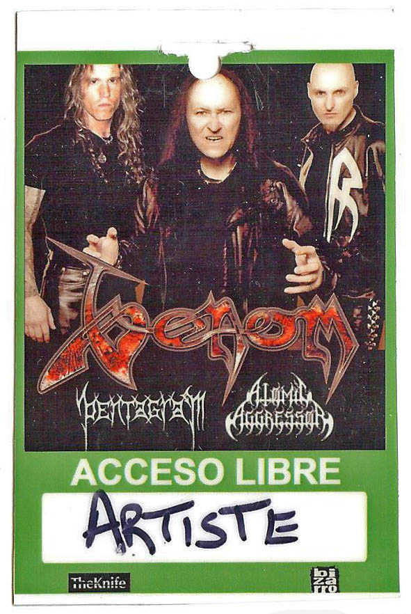 venom tour pass