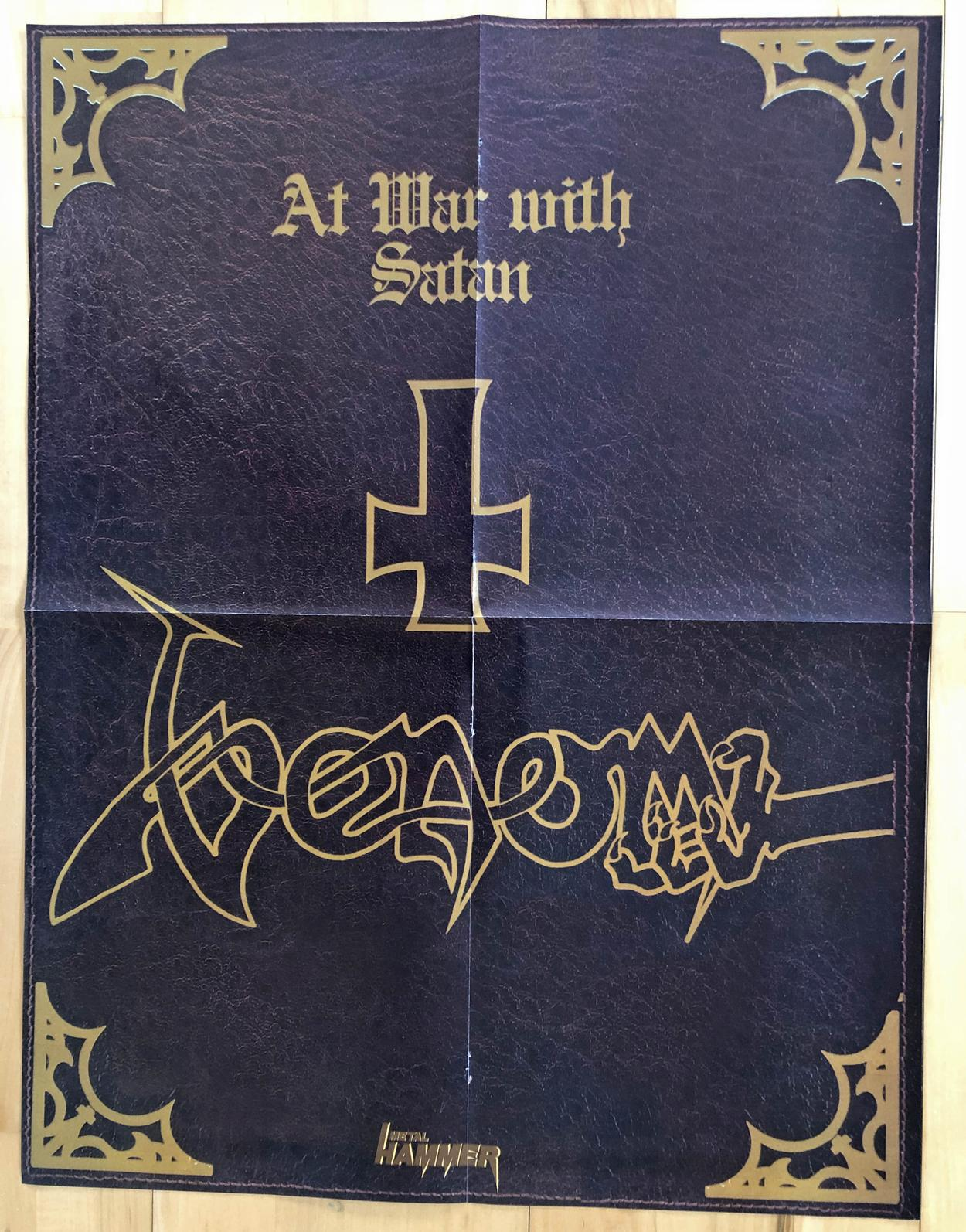 venom black metal collection homepage poster at war with satan