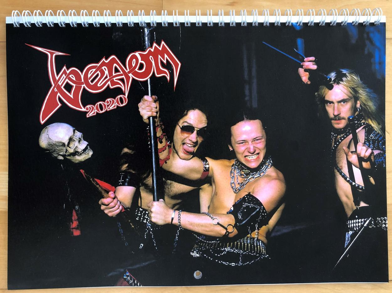 venom black metal collection homepage 2020 wall calendar