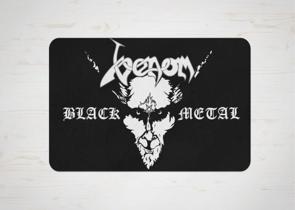 venom black metal collection doormat
