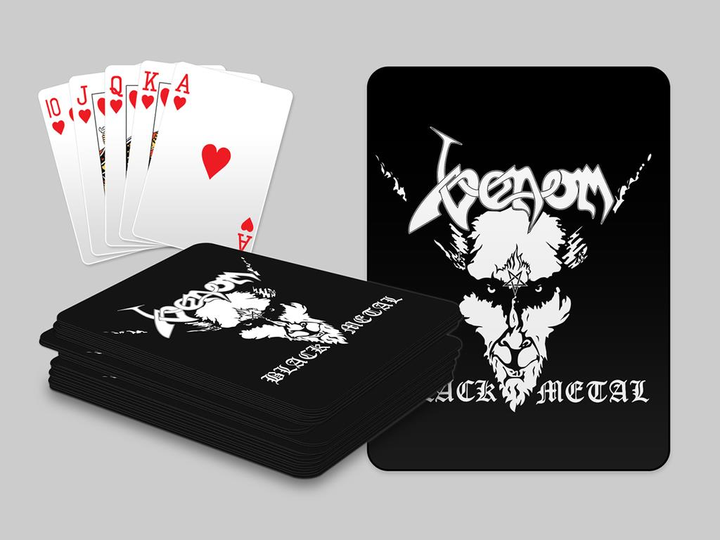 venom black metal collection homepage playing cards