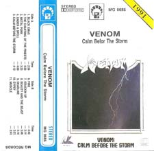 Venom Tapes Collection calm before the storm rare tape
