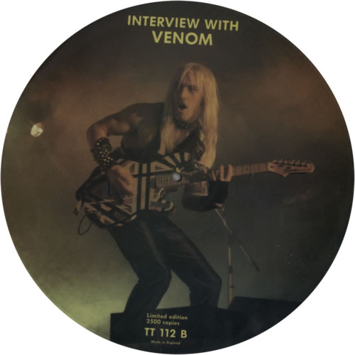 Venom black metal vinyl collection records rare interview picture disc