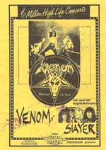 venom black metal flyer concert usa 1985 slayer