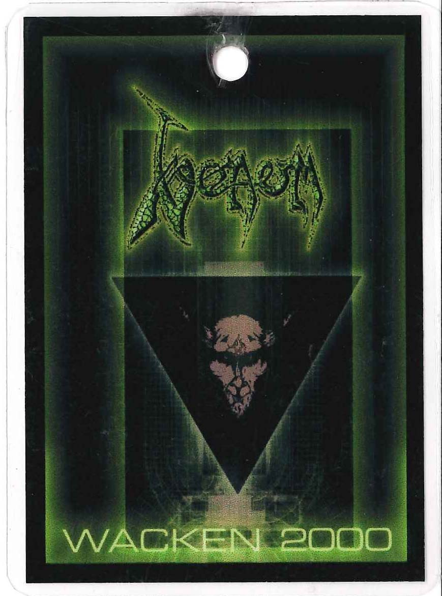 venom black metal WACKEN PASSES 2000