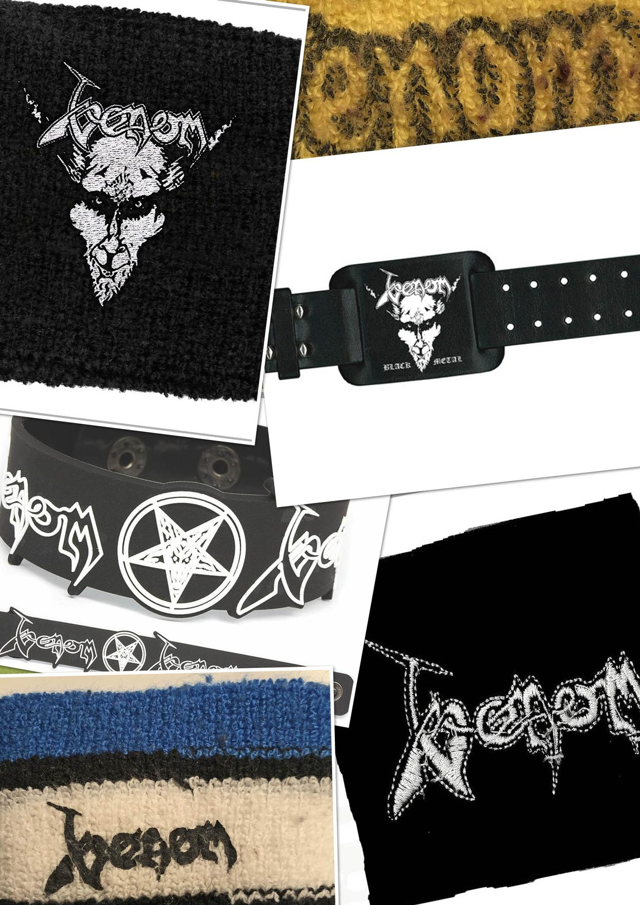 venom black metal collection homepage wristbands