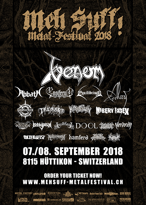 Venom Summer festivals 2018 black metal