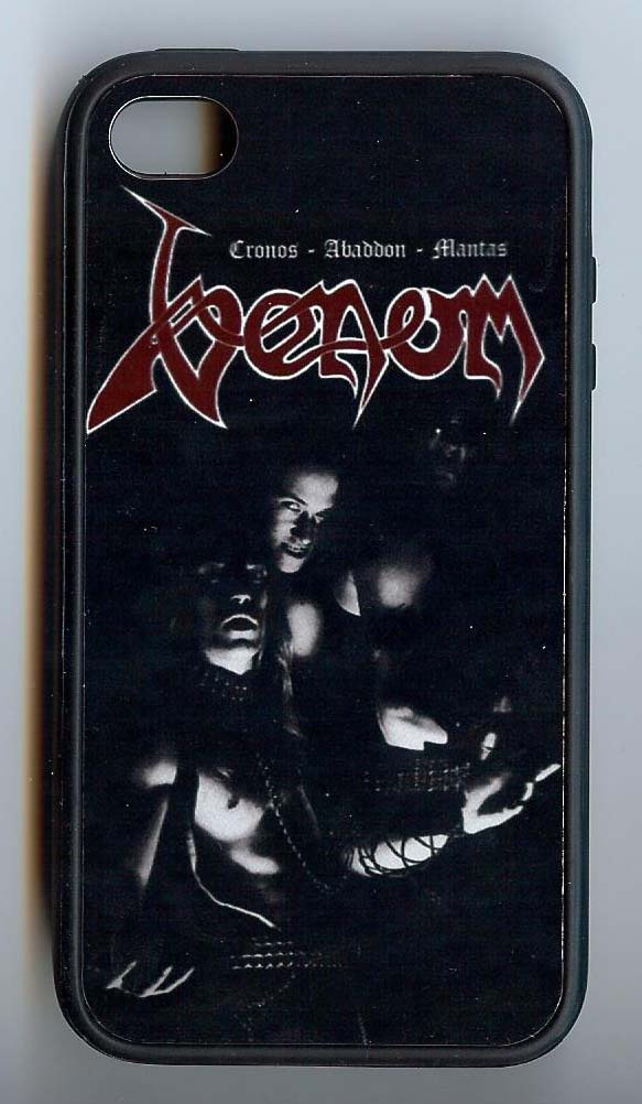 venom black metal i-phone case cover