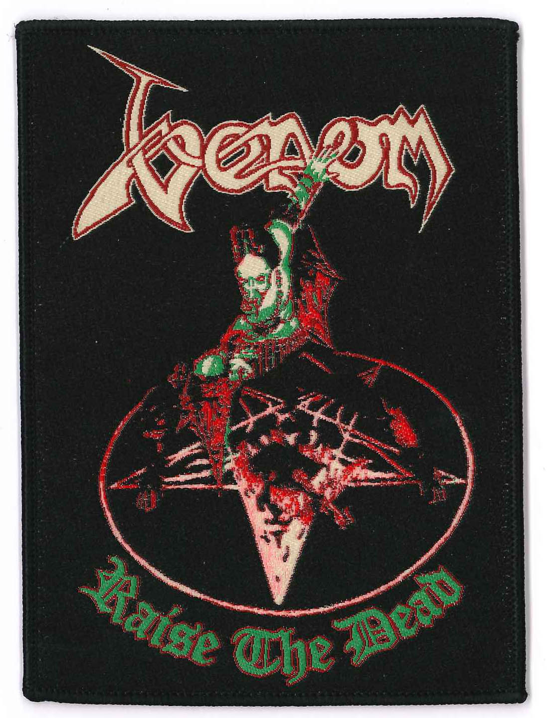 venom black metal patch raise the dead