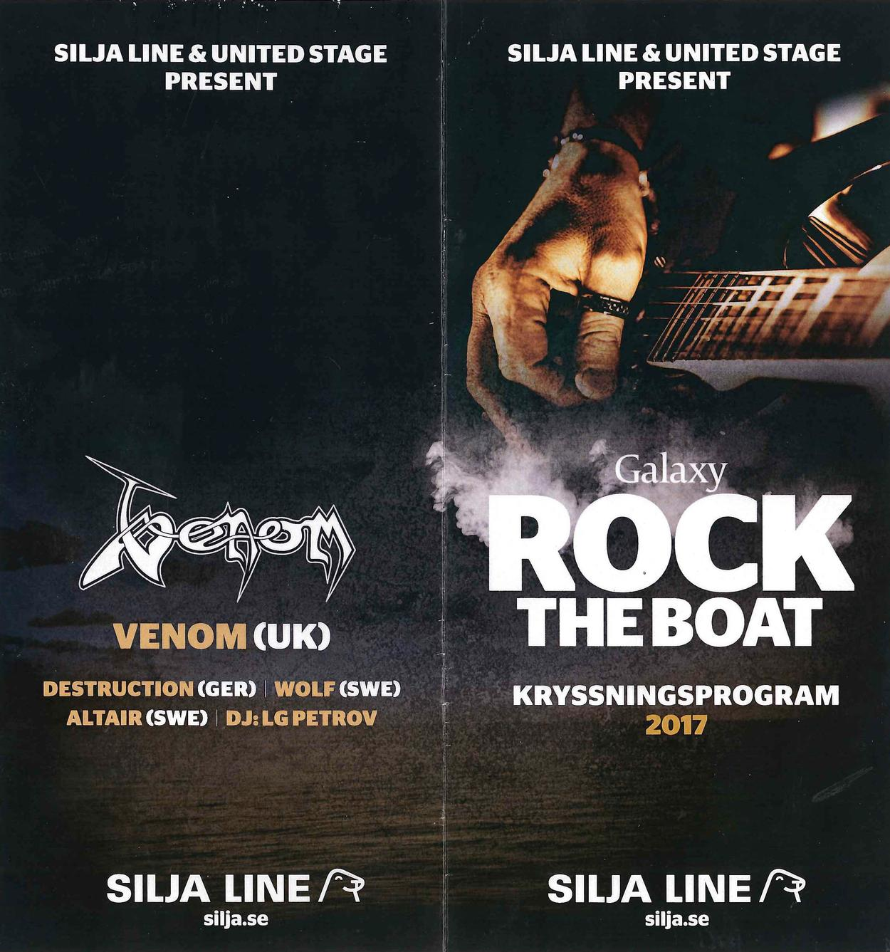 venom black metal rock the boat programme