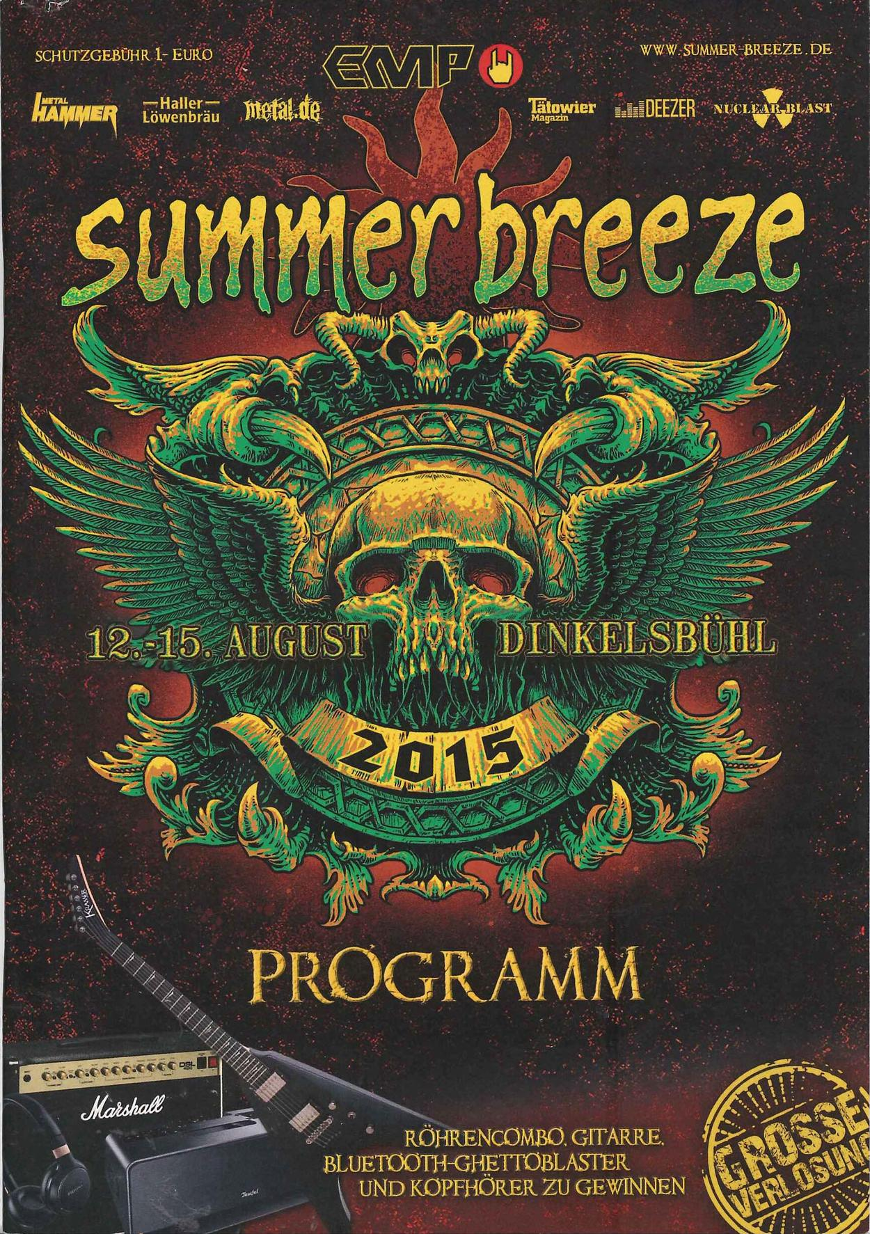 venom black metal summer breeze programme 2015