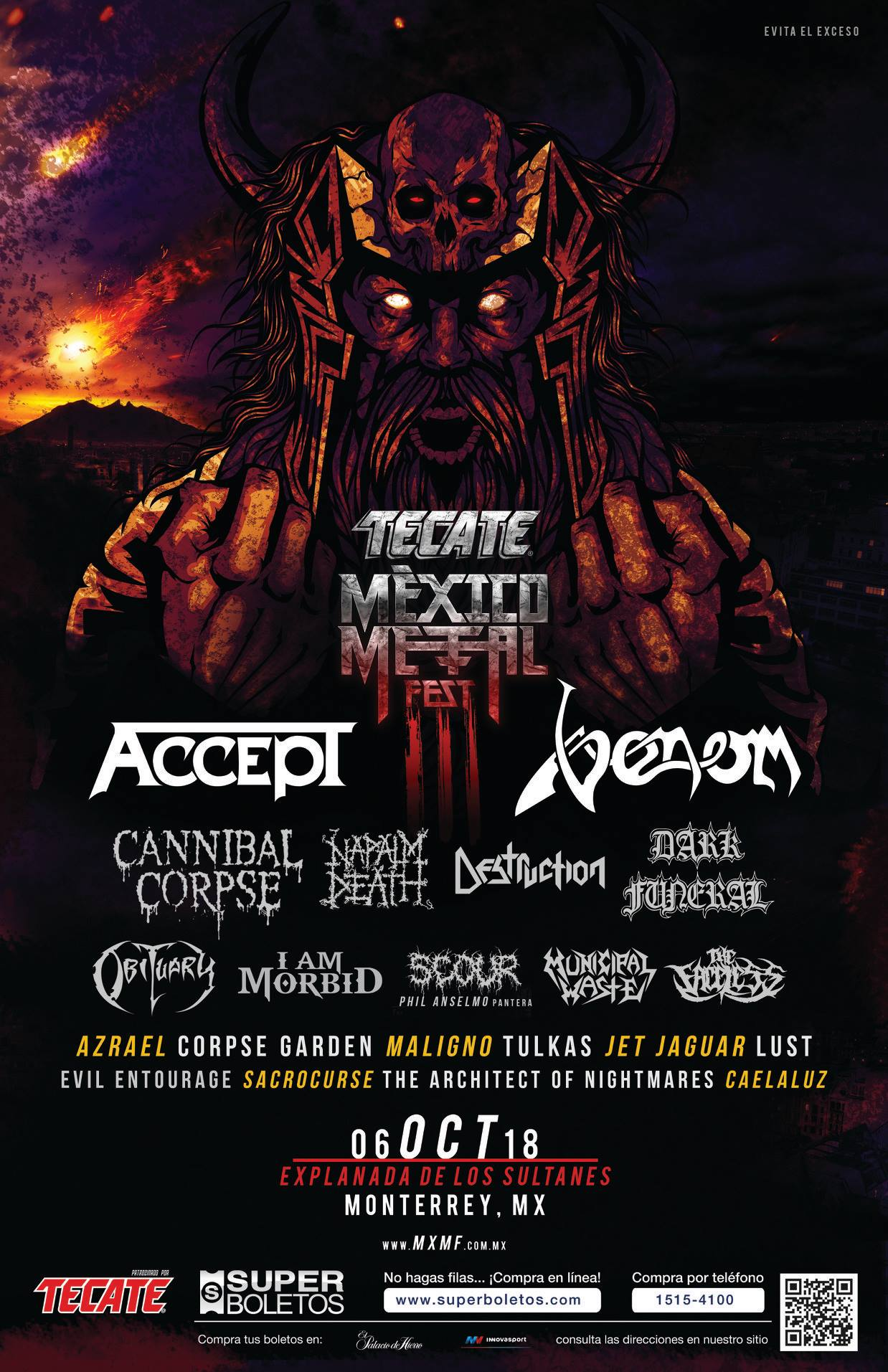 venom black metal mexico 2018 poster