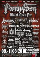 venom black metal flyer party san open metal 2018