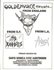 venom black metal usa flyer 1986 tour