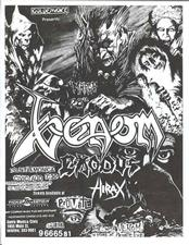 venom black metal flyer usa 1986