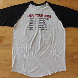 venom black metal jersey shirt tour 1986 usa