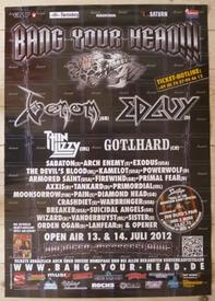 venom black metal bang your head poster 2012