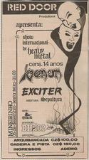 venom black metal brazil 1986 advert concert