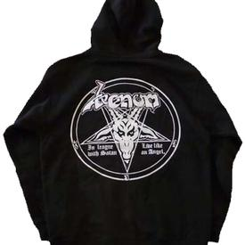 venom black metal zip hoddie