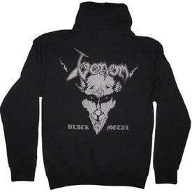 venom black metal zip hood official