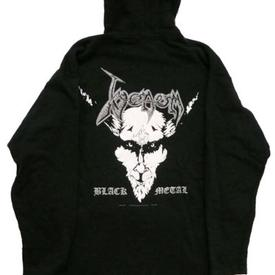 venom black metal collection hodded shirt