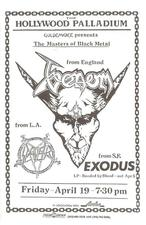 venom black metal slayer exodus flyer 1985 tour