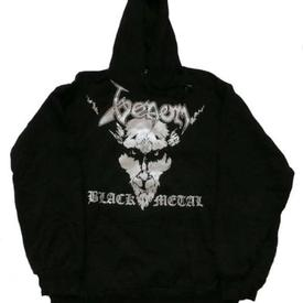 venom black metal hodded shirt