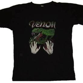 venom black metal rare snake shirt old